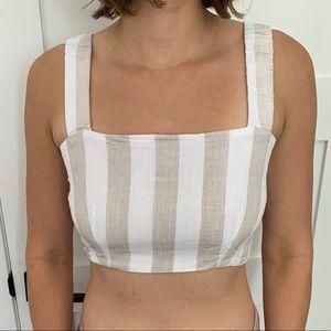 Mendocino Tops - Mendocino Striped Bow Back Top